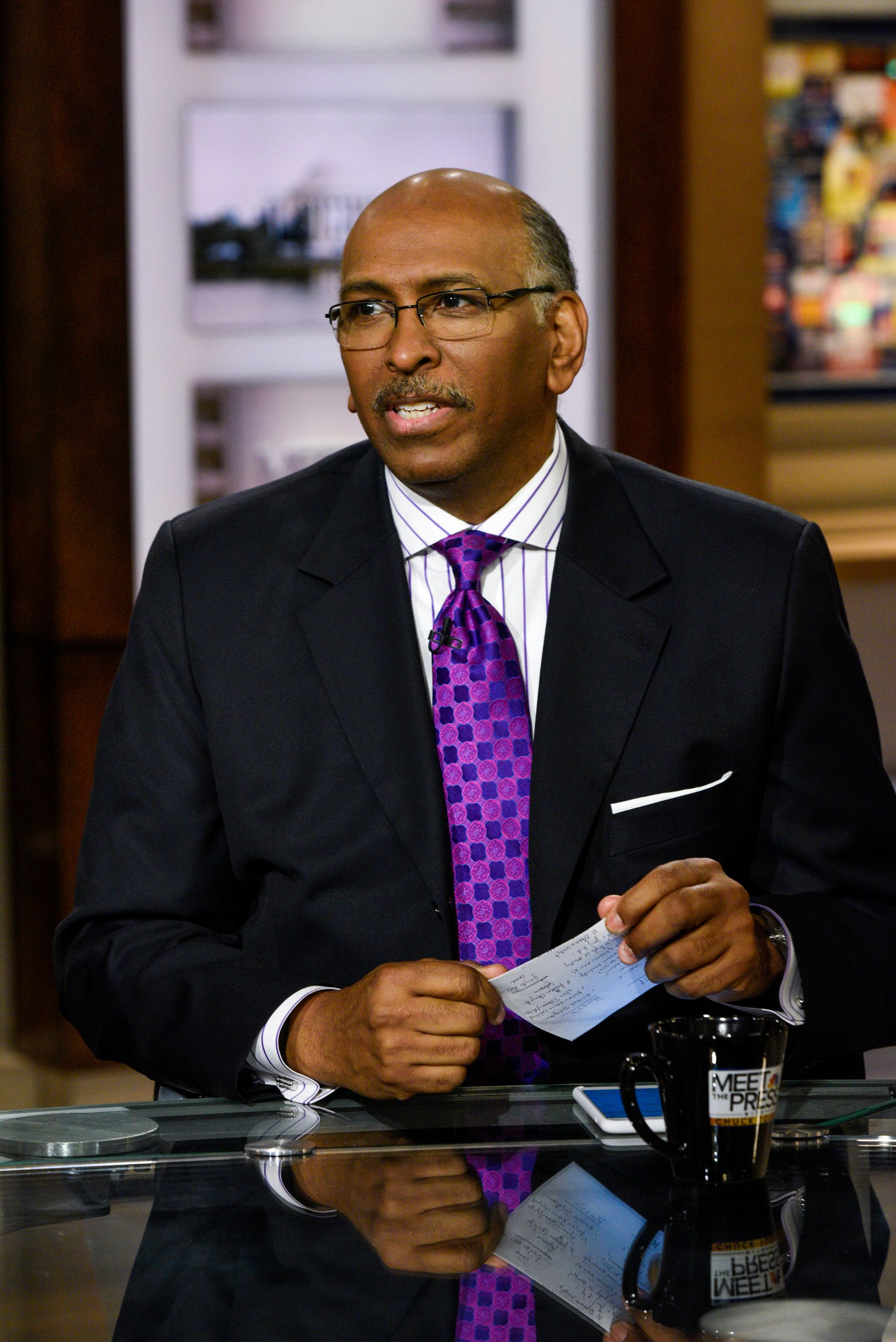 MEET THE PRESS -- Pictured: (l-r)  Michael Steele, Former Chair, Republican National Committee, appears on 'Meet the Press' in Washington, D.C., Sunday Dec. 11, 2016.  (Photo by: William B. Plowman/NBC/NBC NewsWire via Getty Images)