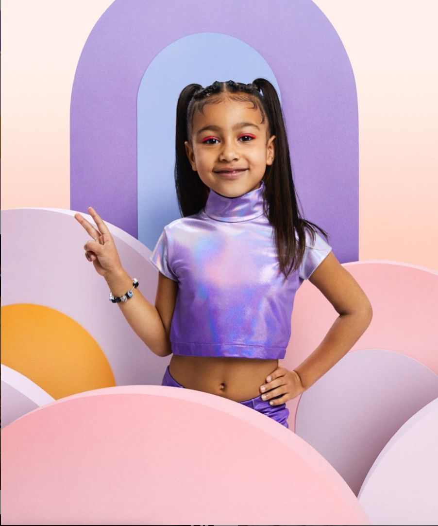 킴 카다시안-카니예 웨스트 부부 딸이 5살의 나이로 패션지 표지를