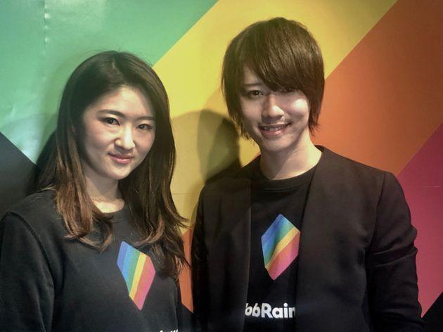 左から、JobRainbow取締役COOの星真梨子氏、代表取締役CEOの星賢人氏