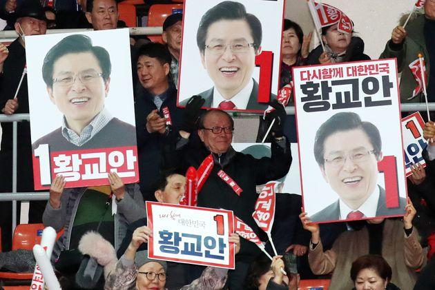자유한국당 지지층에서는 황교안에 대한 지지율이