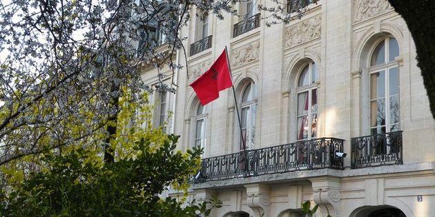 Sit-in devant l'ambassade du Maroc à Paris après l'interruption d'une conférence sur la liberté de la