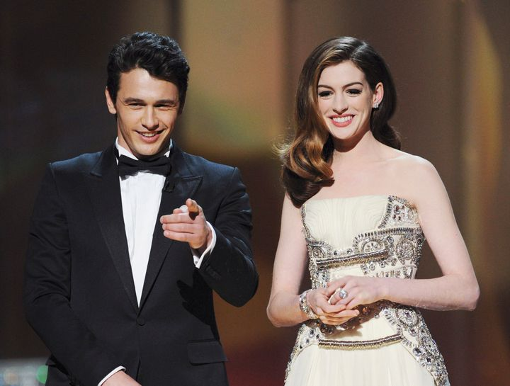 James Franco and Anne Hathaway as hosts at the 83rd Academy Awards.
