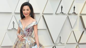 Michelle Yeoh arrives at the Oscars on Sunday, Feb. 24, 2019, at the Dolby Theatre in Los Angeles. (Photo by Jordan Strauss/Invision/AP)