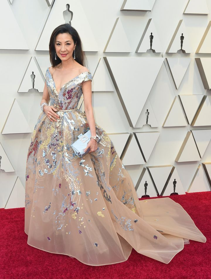 Michelle Yeoh wears a Victorian-inspired Elie Saab number.
