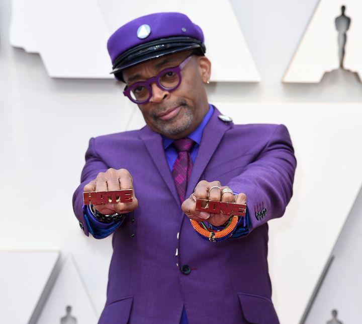 Lee at the Oscars on Sunday night.
