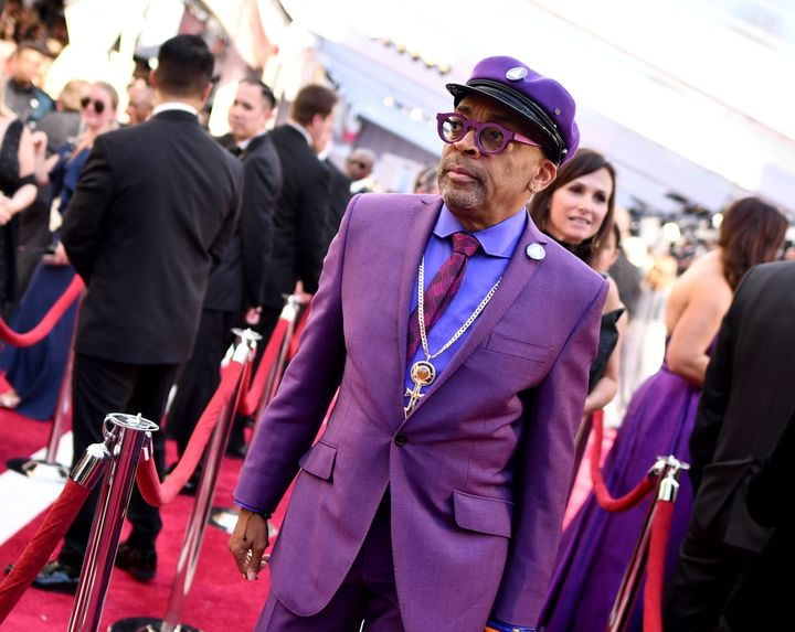 Spike Lee arrives at the Oscars on Sunday, Feb. 24, 2019, at the Dolby Theatre in Los Angeles. (Photo by Charles Sykes/Invisi
