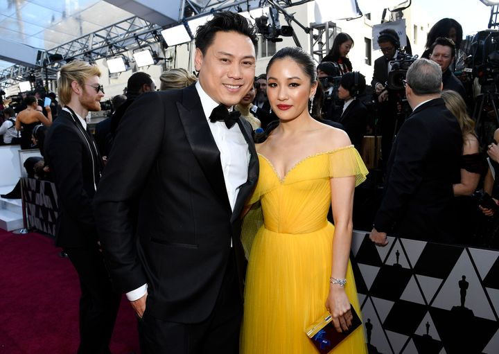 Jon M. Chu and Wu on the red carpet.