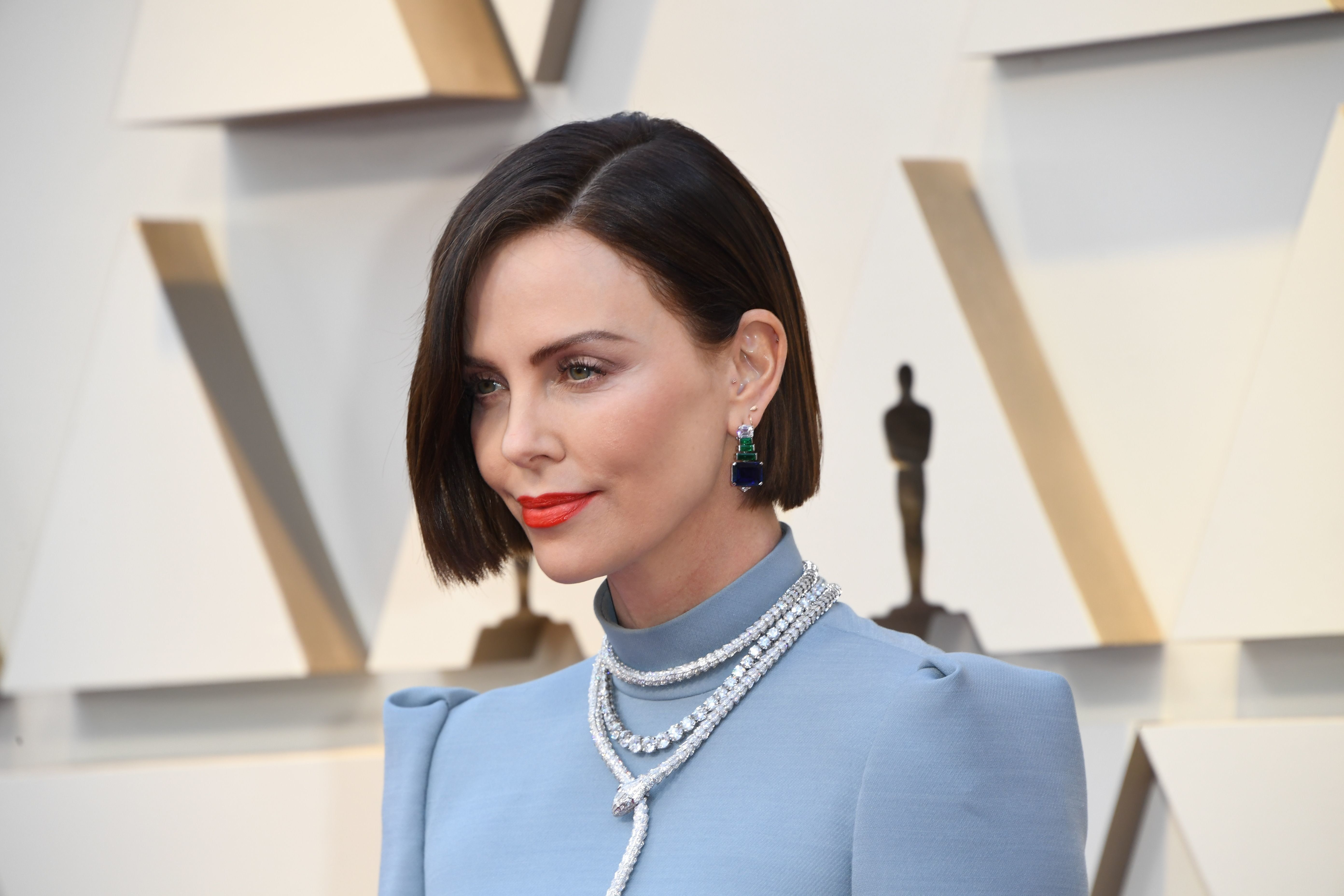Southafrican actress Charlize Theron arrives for the 91st Annual Academy Awards at the Dolby Theatre in Hollywood, California on February 24, 2019. (Photo by Mark RALSTON / AFP)        (Photo credit should read MARK RALSTON/AFP/Getty Images)