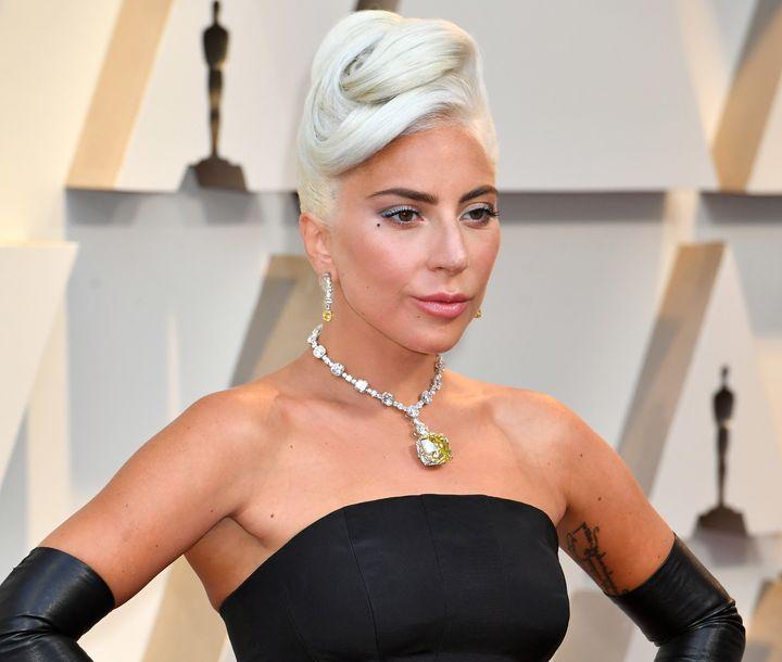 Lady Gaga arrives at the 91st annual Academy Awards on Sunday night.