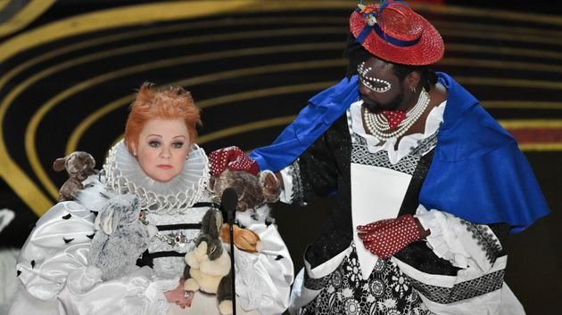 Melissa McCarthy and Brian Tyree Henry present onstage during the 91st