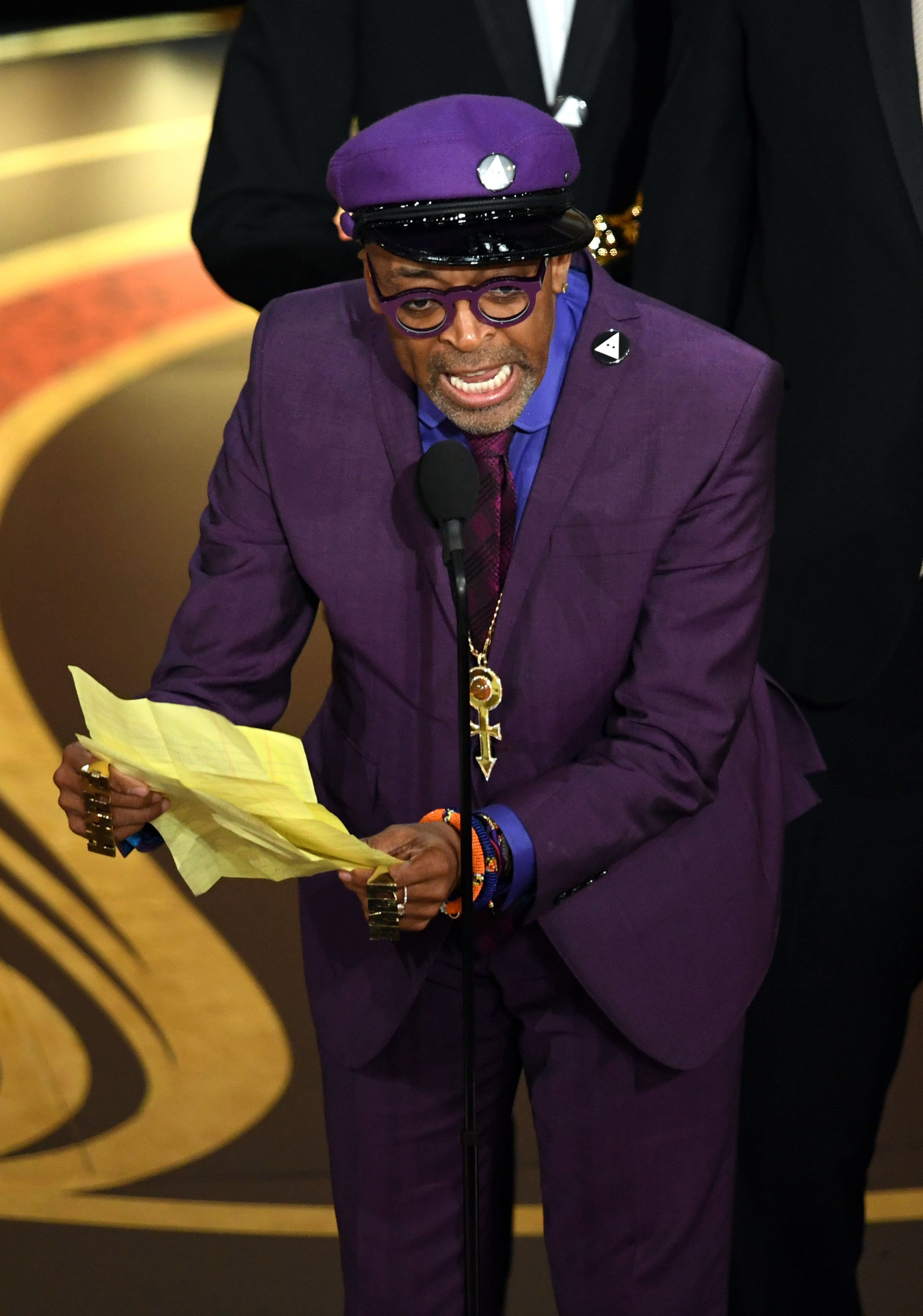 HOLLYWOOD, CALIFORNIA - FEBRUARY 24: Spike Lee accepts the Adapted Screenplay award for 'BlacKkKlansman' onstage during the 91st Annual Academy Awards at Dolby Theatre on February 24, 2019 in Hollywood, California. (Photo by Kevin Winter/Getty Images)