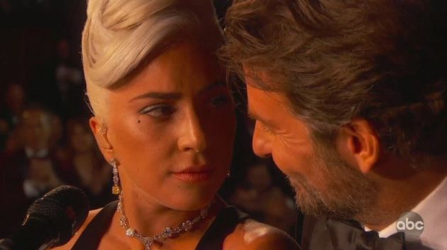 Lady Gaga and Bradley Cooper during their