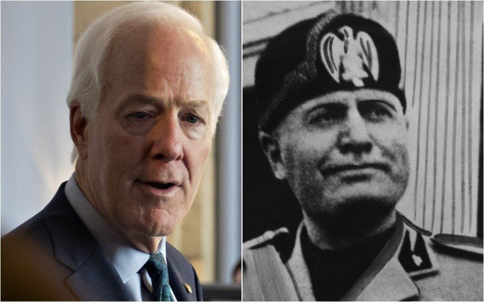 John Cornyn, Benito Mussolini