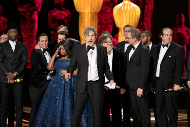 Peter Farrelly, diretor de Green Book - O Guia, faz seu discurso de agradecimento ao vencer o Oscar de...