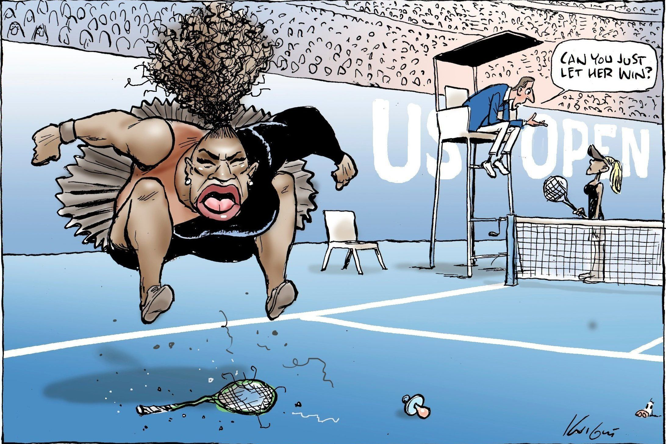 Controversial Serena Williams cartoon deemed not racist by media watchdog