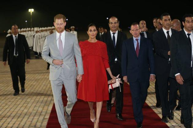 L'arrivée du prince Harry et de la duchesse Meghan Markle à Casablanca le 23