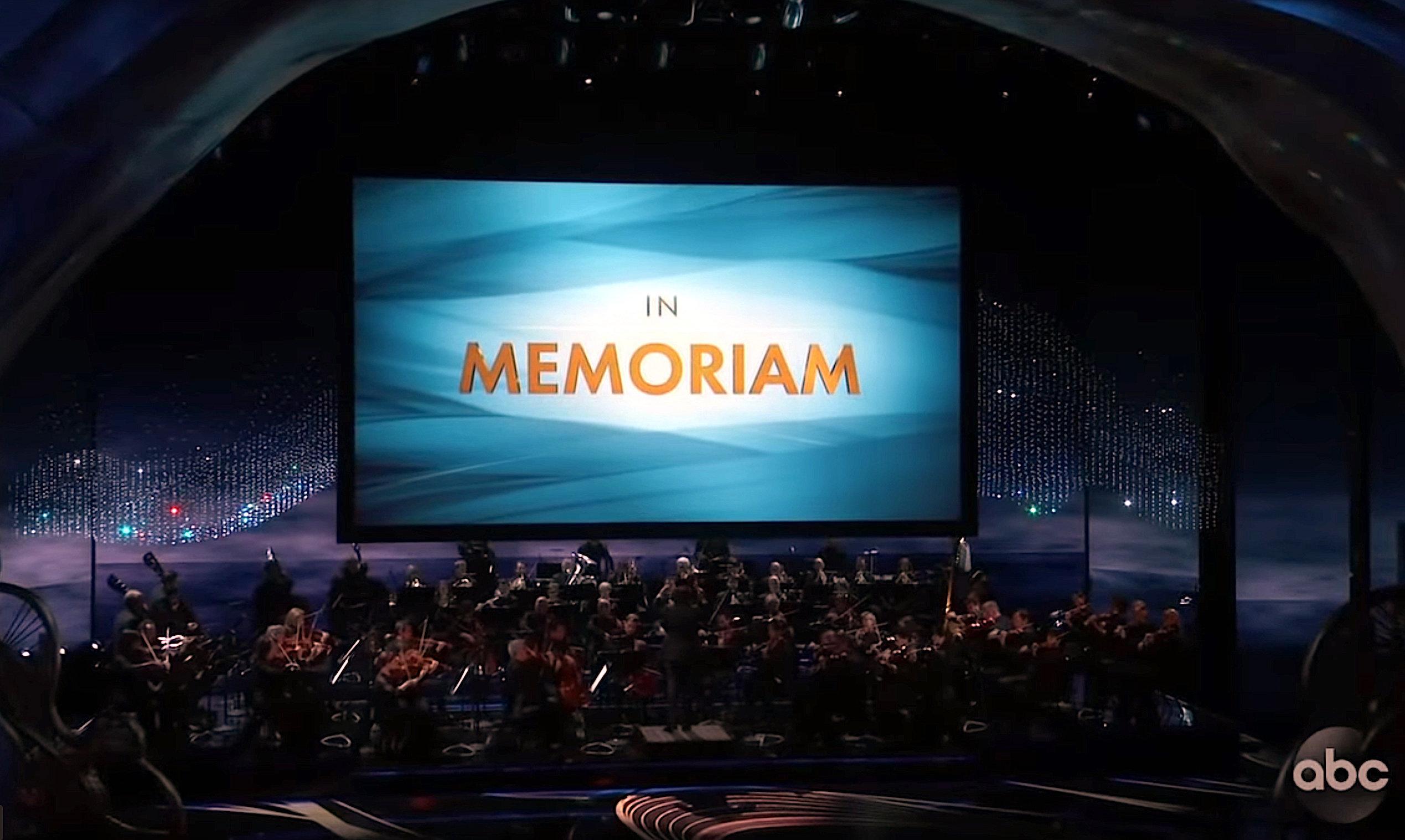 In Memoriam segment at the Academy Awards