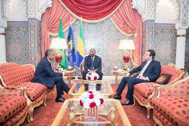 Ali Bongo a reçu dans le salon marocain du palais