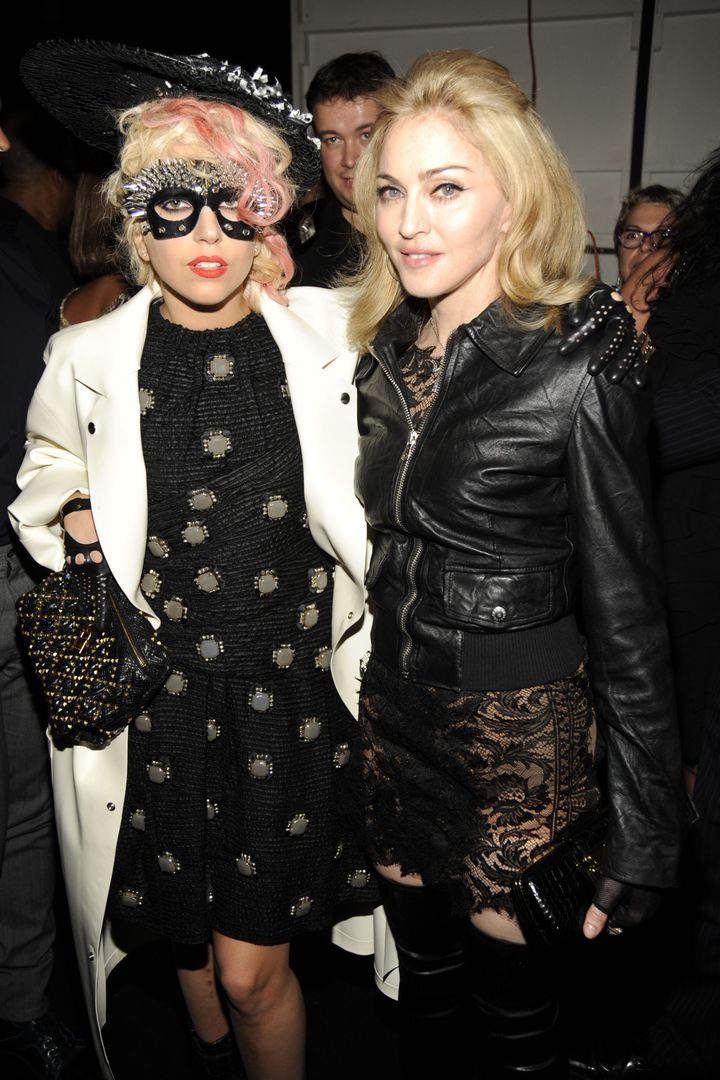 Lady Gaga and Madonna in a rare photo together from 2009 in New York City.