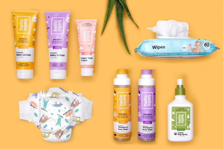 Hello Bello offers products like wipes, lotions and even sloth-print diapers.