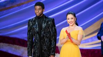 THE OSCARS® - The 91st Oscars® broadcasts live on Sunday, Feb. 24, 2019, at the Dolby Theatre® at Hollywood & Highland Center® in Hollywood and will be televised live on The ABC Television Network at 8:00 p.m. EST/5:00 p.m. PST.  (Craig Sjodin via Getty Images) CHADWICK BOSEMAN, CONSTANCE WU