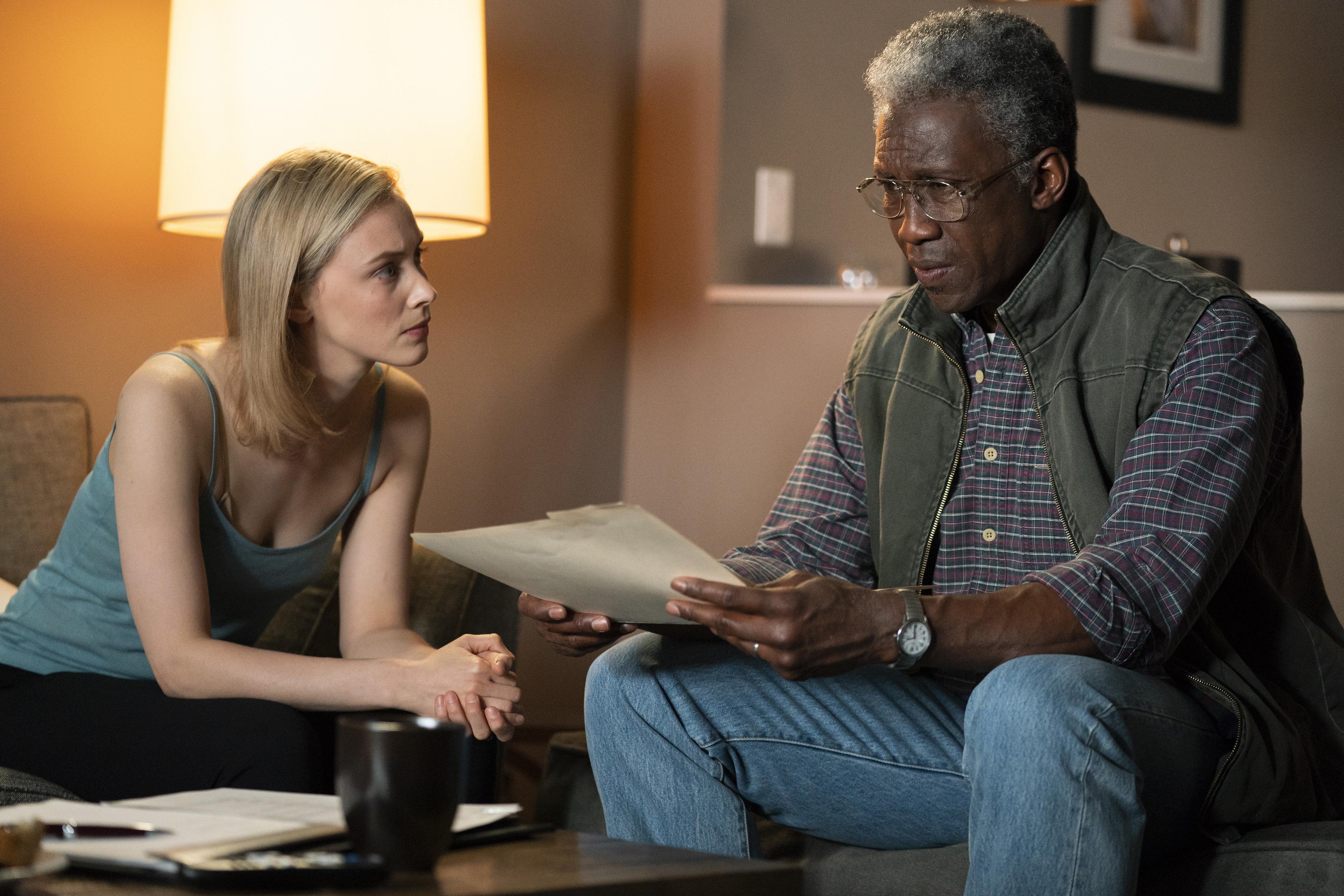 """Sarah Gadon and Mahershala Ali in """"True Detective."""""""