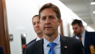 "FILE - In this Sept. 27, 2018, file photo, Sen. Ben Sasse, R-Neb., walks on Capitol Hill in Washington. The Senate is pushing toward a vote on Republican legislation that would threaten prison for doctors who don't try saving the life of infants born alive during abortions. ""I want to ask each and every one of my colleagues whether or not we're OK with infanticide,"" the measure's chief sponsor, Sasse, said Monday, Feb. 25, 2018, as debate began. (AP Photo/Carolyn Kaster, File)"
