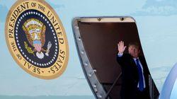 트럼프가 베트남으로 향하는 에어포스원에서 올린