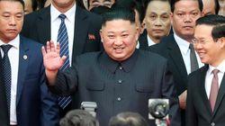 김정은 위원장이 베트남 동당역에