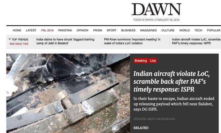 A screenshot of Dawn's website.