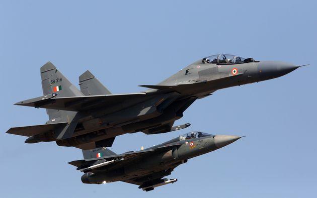 インド空軍のSu-30MKI戦闘機のイメージ写真