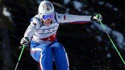 Esquiadora russa quebra coluna em
