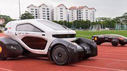 Este carro é movido a energia solar e foi feito em impressora