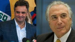 Em encontro entre Aécio e Temer, PSDB acerta participação em eventual