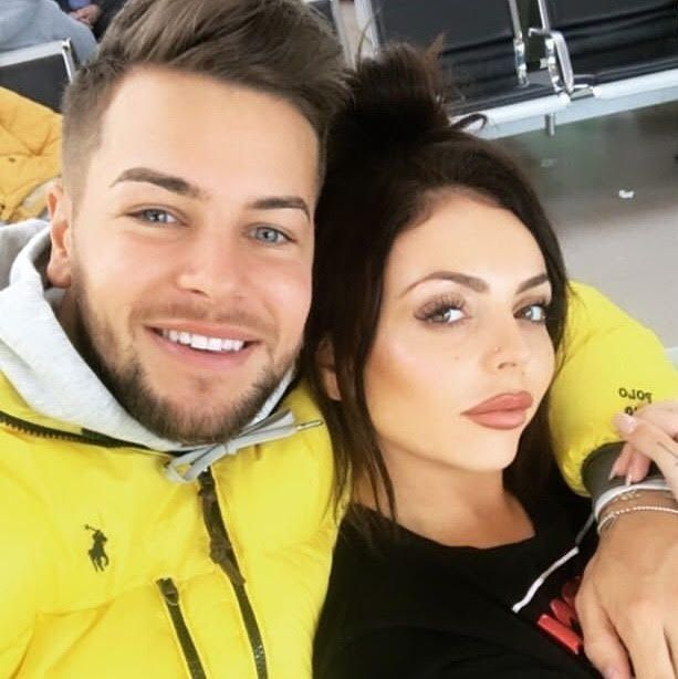 Chris Hughes posted this selfie of him and Jesy Nelson on