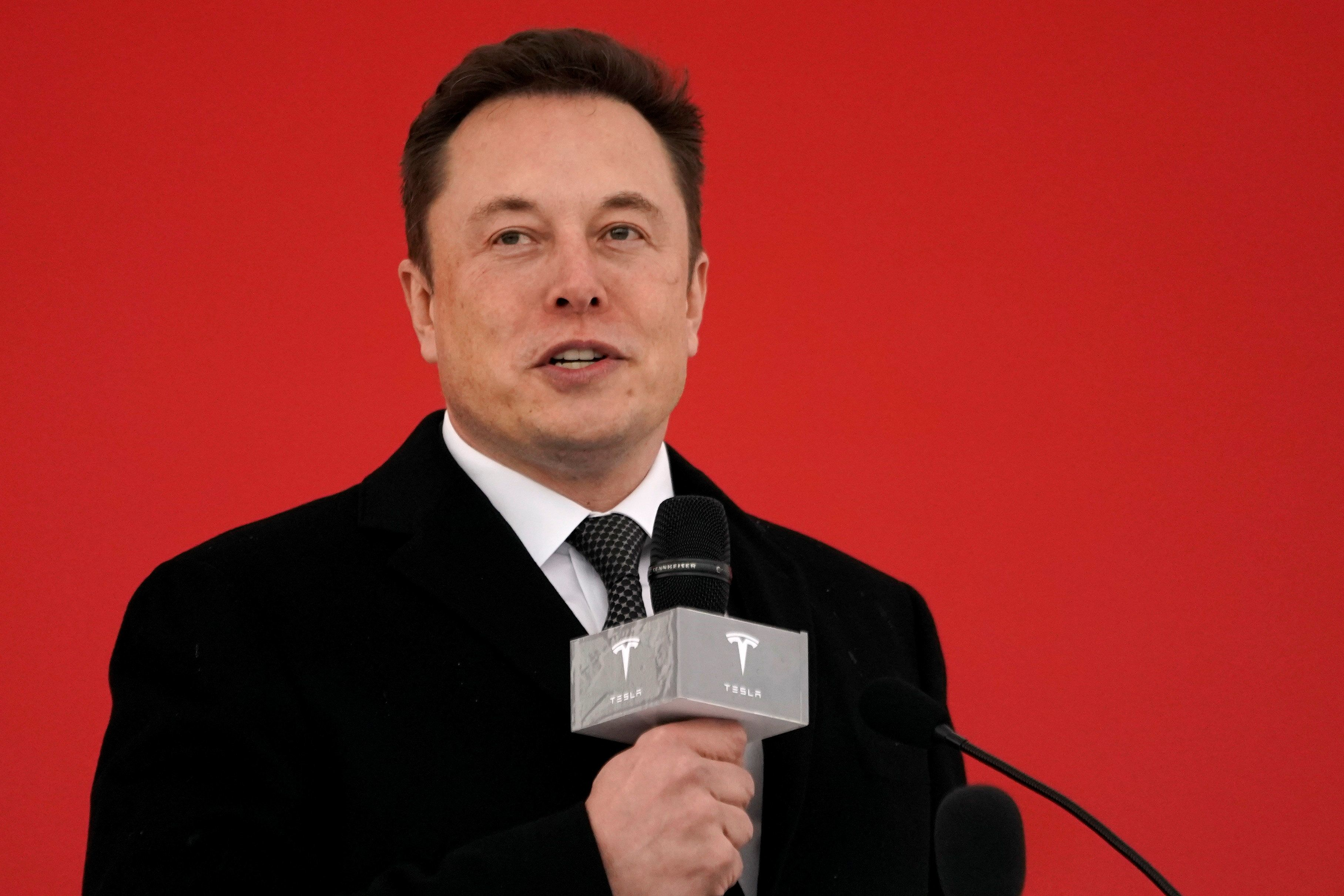 Tesla CEO Elon Musk attends the Tesla Shanghai Gigafactory groundbreaking ceremony in Shanghai, China January 7, 2019. REUTERS/Aly Song