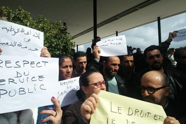 Radio nationale : sit-in des journalistes pour le droit