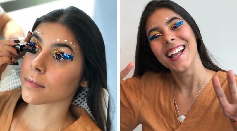 Taca glitter, sim! Este tutorial vai te ensinar a fazer maquiagem com muito brilho no