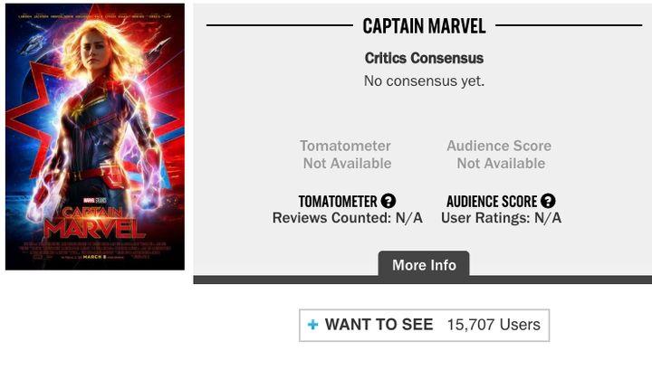 Rotten Tomatoes screenshot from Feb. 26.