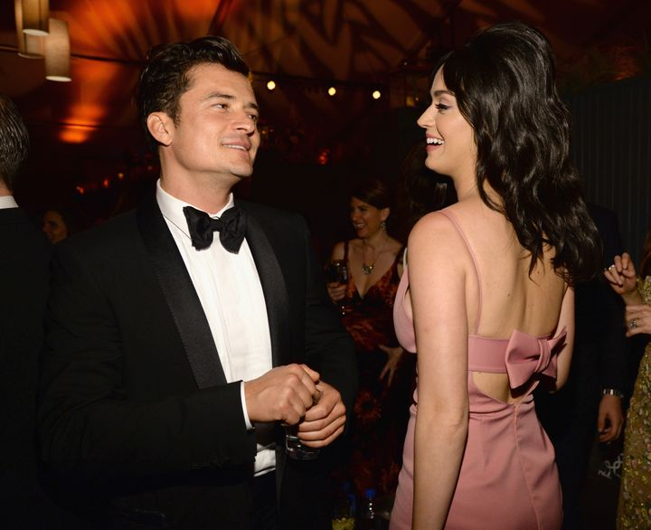 Orlando Bloom and Katy Perry attend The Weinstein Company and Netflix Golden Globe Party on Jan. 10, 2016, in Beverly Hills.