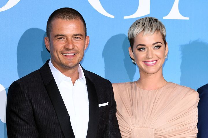 Orlando Bloom and Katy Perry attend the Gala for the Global Ocean hosted by Prince Albert II of Monaco on Sep. 26, 2018.