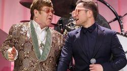 O emocionante dueto de Elton John e Taron Egerton, astro da cinebiografia