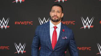 "***FILE PHOTO*** WWE's Roman Reigns Reveals Battle With Leukemia NORTH HOLLYWOOD, CA - JUNE 6: Roman Reigns, WWE's First-Ever Emmy ""For Your Consideration"" Event at The Saban Media Center in North Hollywood, California on June 6, 2018. Credit: Faye Sadou/MediaPunch /IPX"