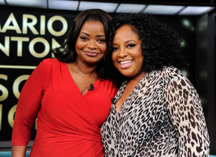 Octavia Spencer (left) was amused that Sherri Shepherd (right) pretended to be Spencer to get into a Delta Sky Club lounge.