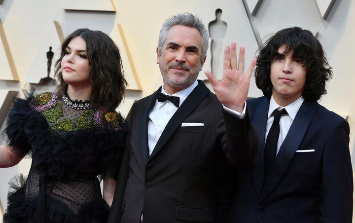 <strong>Alfonso</strong> <strong>Cuar&oacute;n </strong>levou os dois filhos para o Oscar 2019.