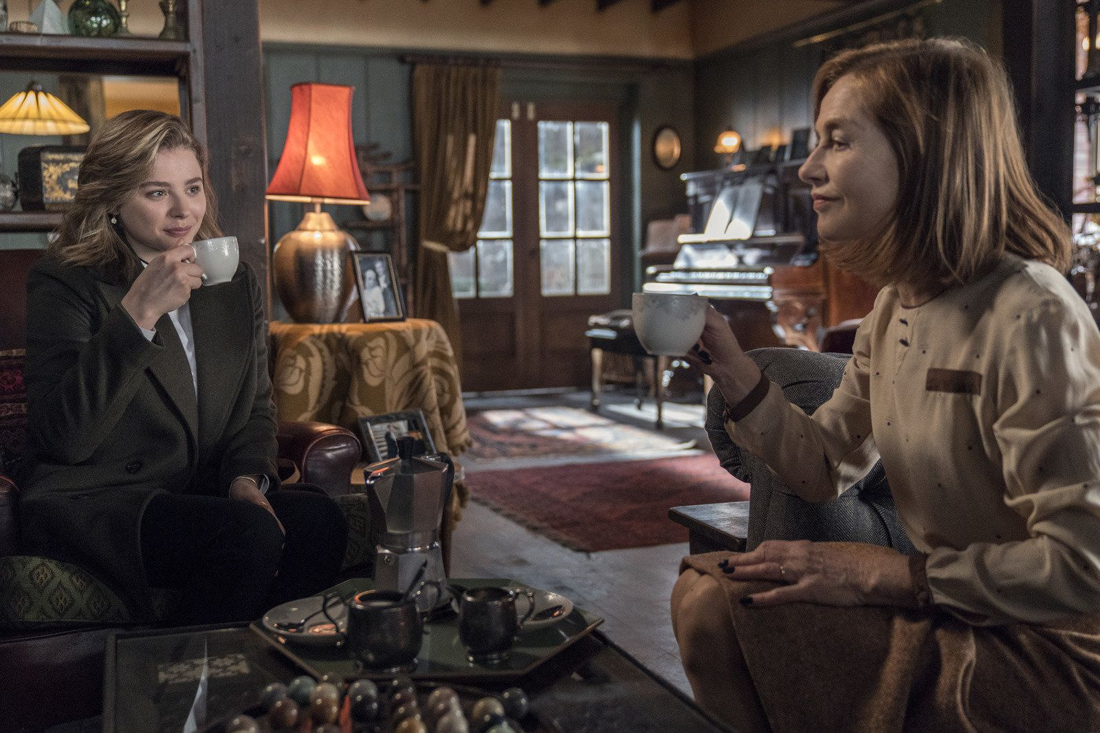 """Huppert says the first time she watched """"Greta"""" with an audience, in Toronto, """"We were surprised to see how much people laughed. Especially in the most horrifying moments."""""""