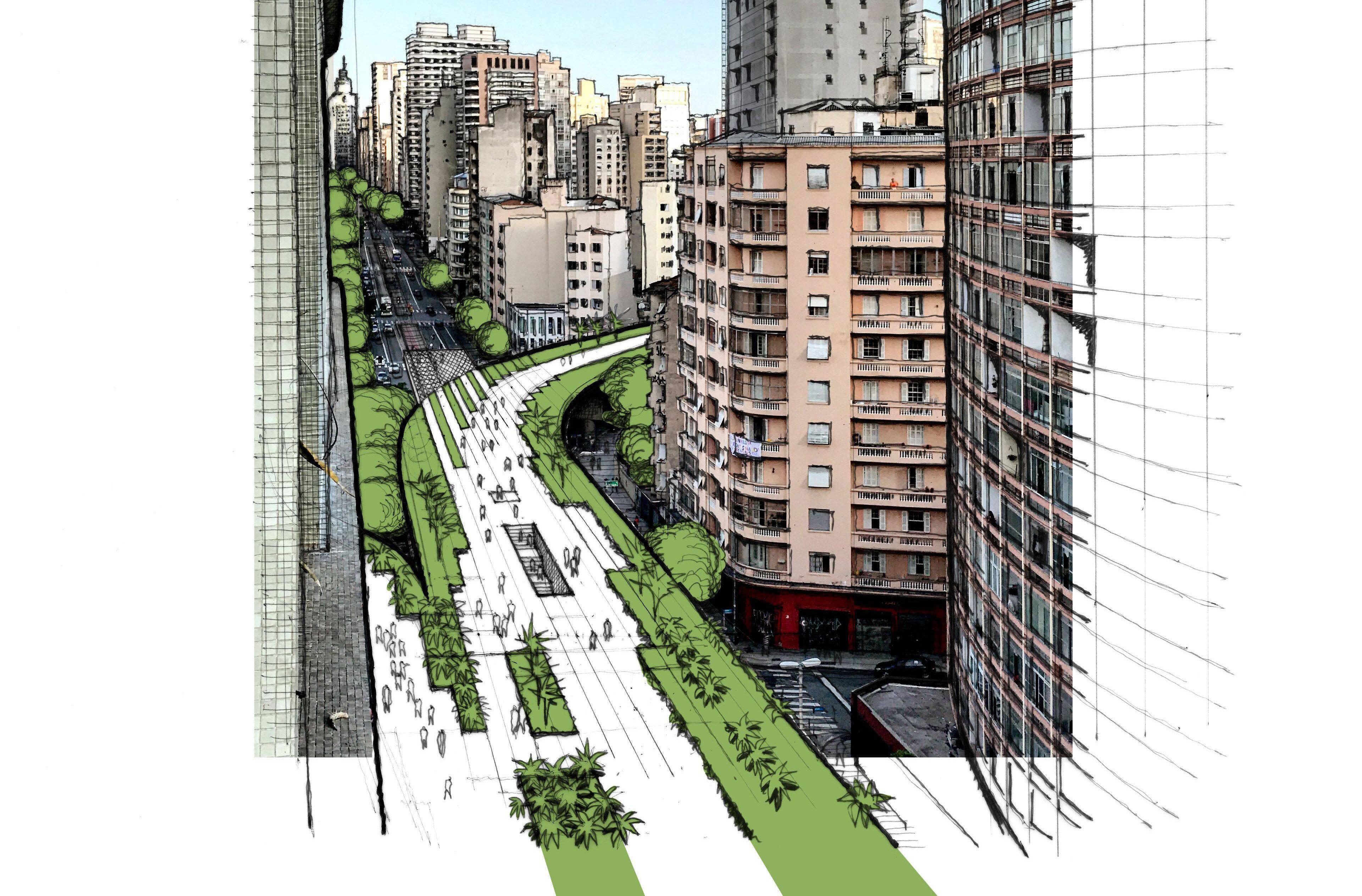 Antiga proposta de transformar Minhocão em parque suspenso é desengavetada por prefeito...