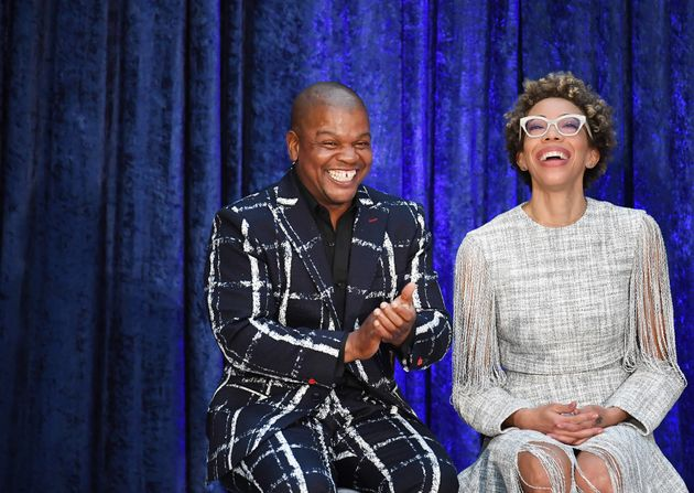 Artists Kehinde Wiley and Amy Sherald. Wiley painted Barack Obama's official portrait, and Sherald painted...