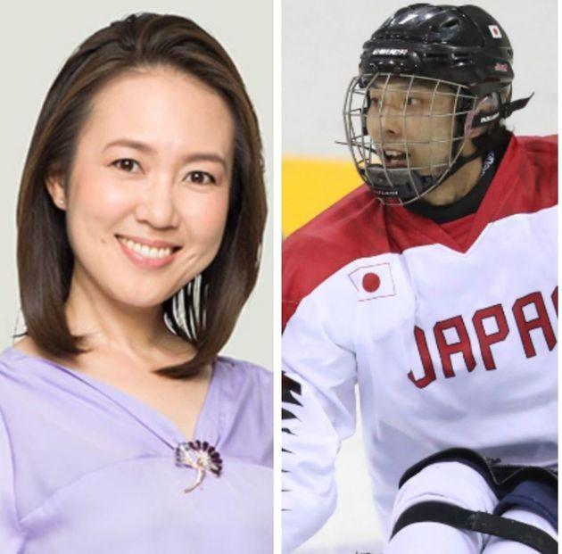結婚を発表した高畑百合子さん(左)と堀江航さん