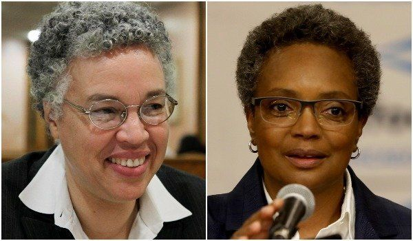 Toni Preckwinkle, left, or Lori Lightfoot will become the next -- and first black female -- mayor of Chicago.